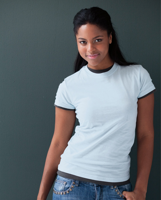 Anvil Style 379 Women's Junior Fit Fashion Tee