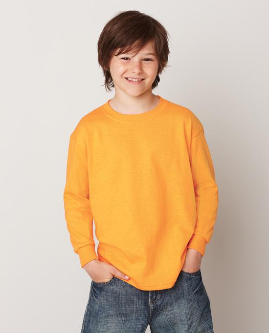 Gildan style 5400b heavy cotton youth long sleeve t shirt for Gildan t shirt styles
