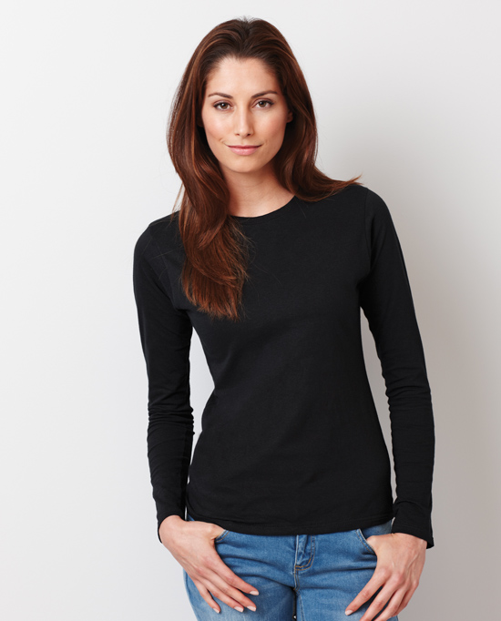 Gildan Style 64400L Softstyle Junior Fit Long Sleeve T-shirt